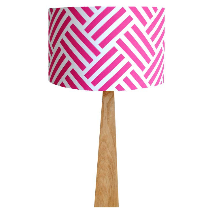 Pink Parquet Oak Table Lamp, £80, hunkydoryhome.co.uk