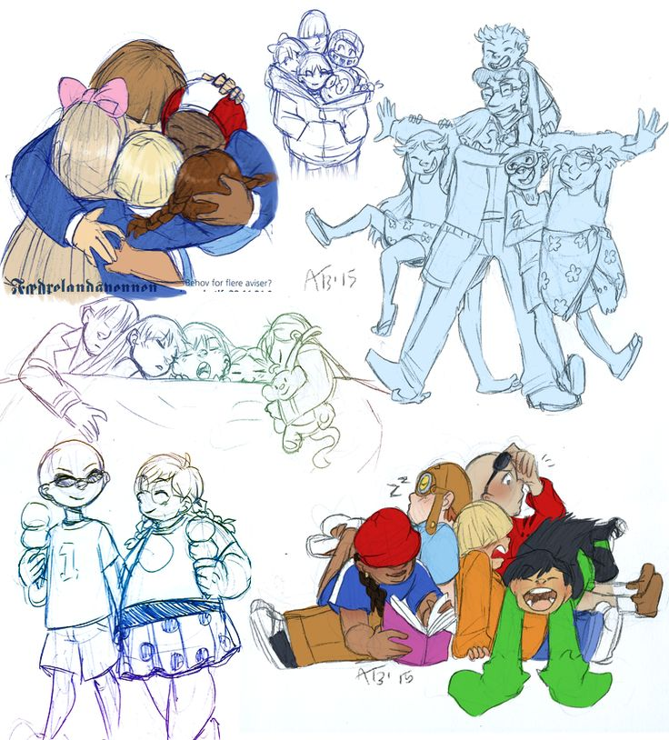 This one goes because of the delightful children hugging and sleeping... and because Lenny with a rainbow monkey is adorable (Credit to the artist: Asutori) #KND #DCFDTL