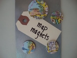 Map magnets...fun for a missionary....or travelers in your life...