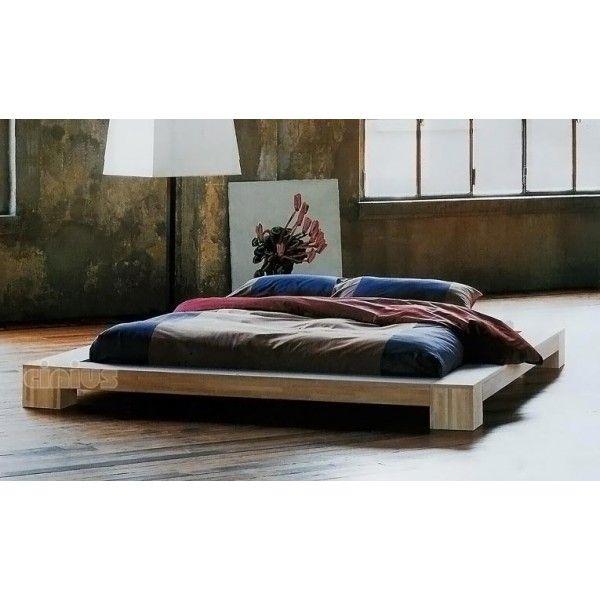 premium futon bett holz massiv holzbett f r hohe matratzen 90 100 120 140 160 180 200 x 200cm. Black Bedroom Furniture Sets. Home Design Ideas
