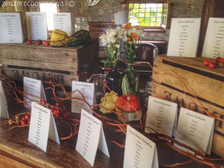 #Tableau de Mariage / #Wedding Table Plan with the #Autumn colors (and lot of pumpkins!)