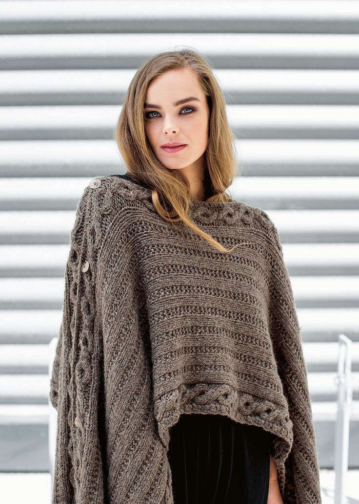 Multi-Purpose Poncho, in Ponchos to Knit by Denise Samson.