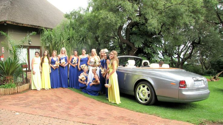 The bride with her entourage...an abundance of beauty and joy :-)