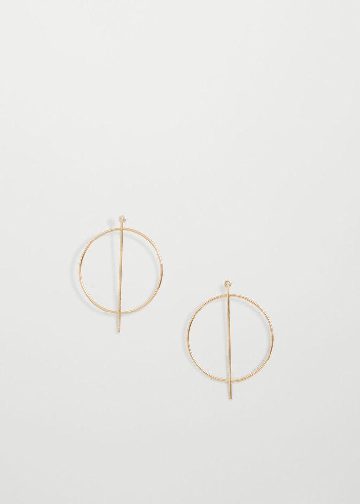 Hoop earrings   MANGO