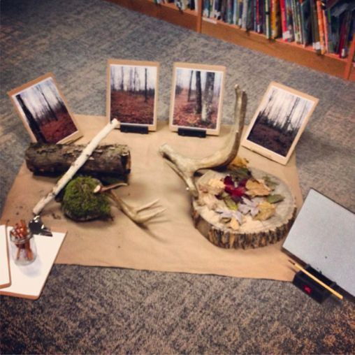 """""""An invitation to explore the woods and an opportunity for children to make personal connections in relation to their community"""" - from Joanne Babalis ("""",)"""