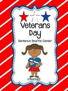 VETERANS DAY Fluency Center: Sentence Shuffle  $
