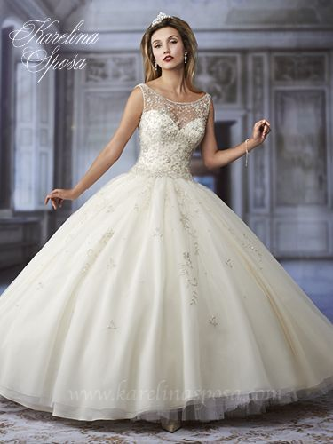 White with Silver Embellishments Ballgown