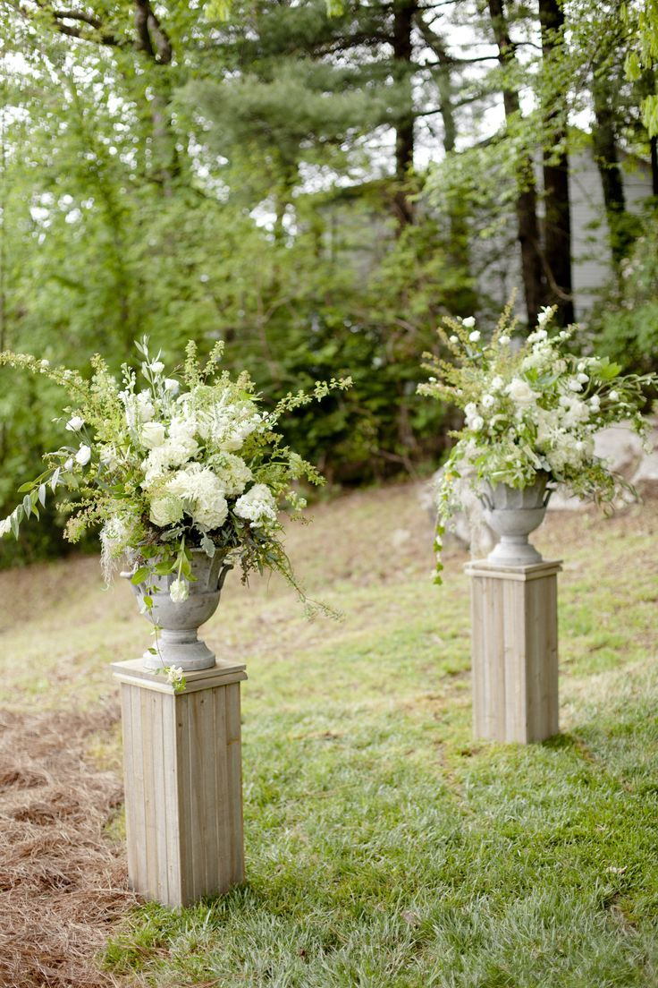 large arrangement for start of aisle, but in your color palette