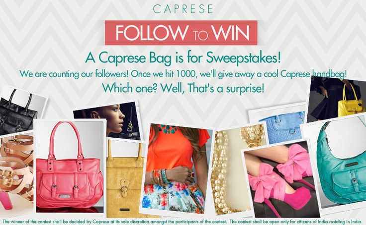 #win #contest Follow @Caprese Bags -Participate & you could win a Caprese Handbag!