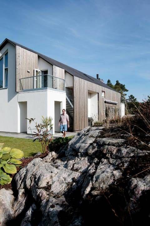 Huset var arkitektens aller første, og er tegnet med gratisprogram fra internett. Både kledning og tak består av ubehandlet furu.