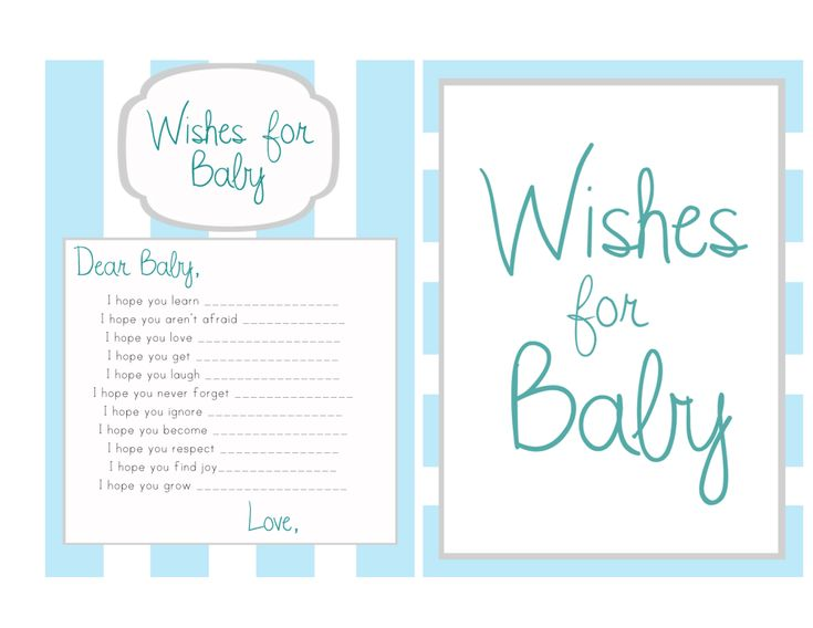 Wishes for baby operation hillhouse baby shower for Wishes for baby template printable