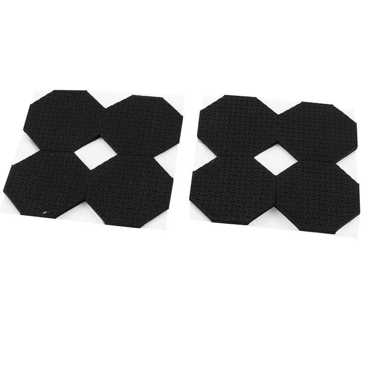 Cabinet Chair Rhombus Shaped Self-adhesive Protection Cushion Pads 8 Pcs Black