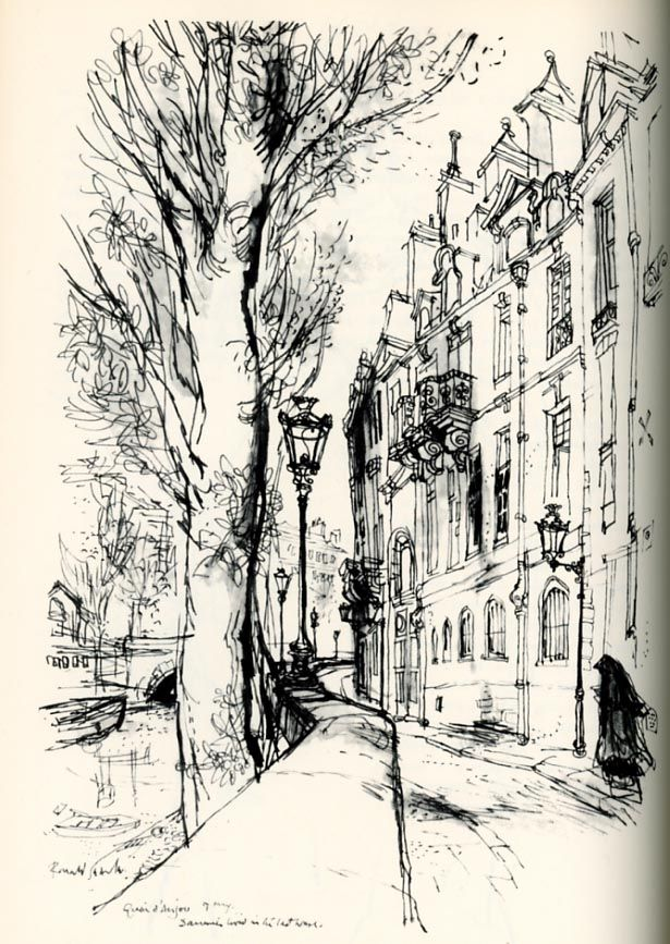 "Ronald Searle's sketches from ""The Paris Sketchbook"""
