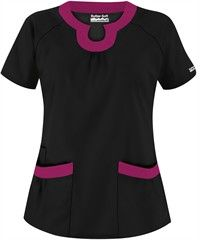 new scrubs for winter rotation! Butter-Soft Scrubs by UA Rounded U-Neck Scrub Top