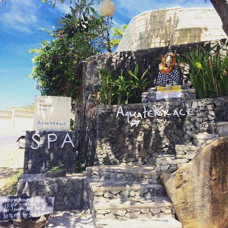90 min treatment at @aquaterrace was brilliant! So relaxing overlooking the big blue ocean. Massage & body scrub.