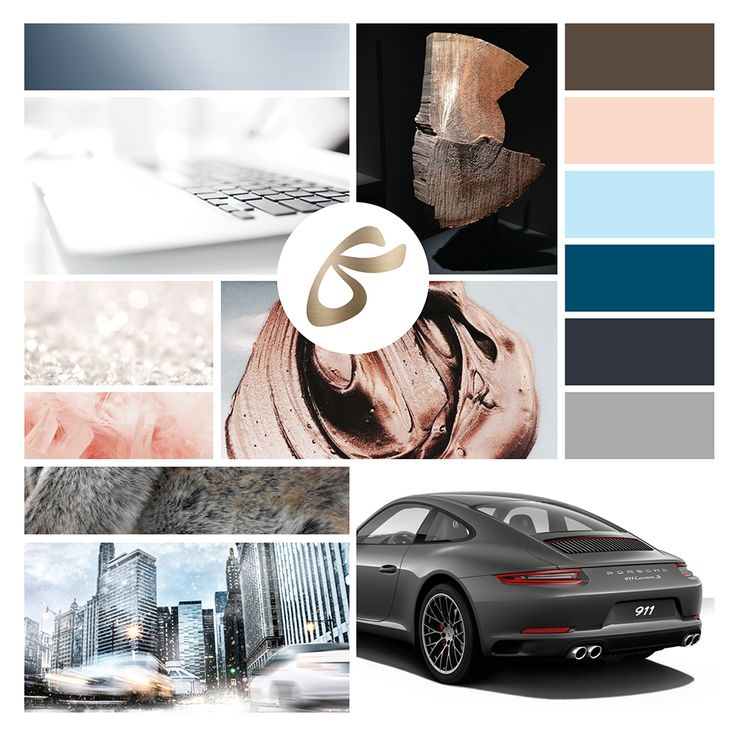 Mood Board Vision Color Palettes Design Collection Logo