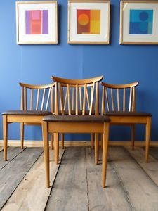 Vintage Retro Beech Kitchen Occasional Dining Chairs, UK DELIVERY AVAILABLE