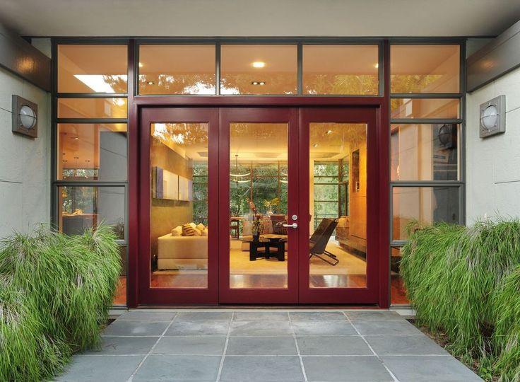 modern front door with exterior tile floors french doors in