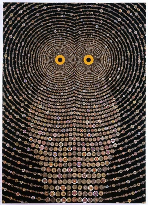 maybe buttons: Photo Collage, Night Music, Fred Tomaselli, Art, Fredtomaselli, Raptors, Owls