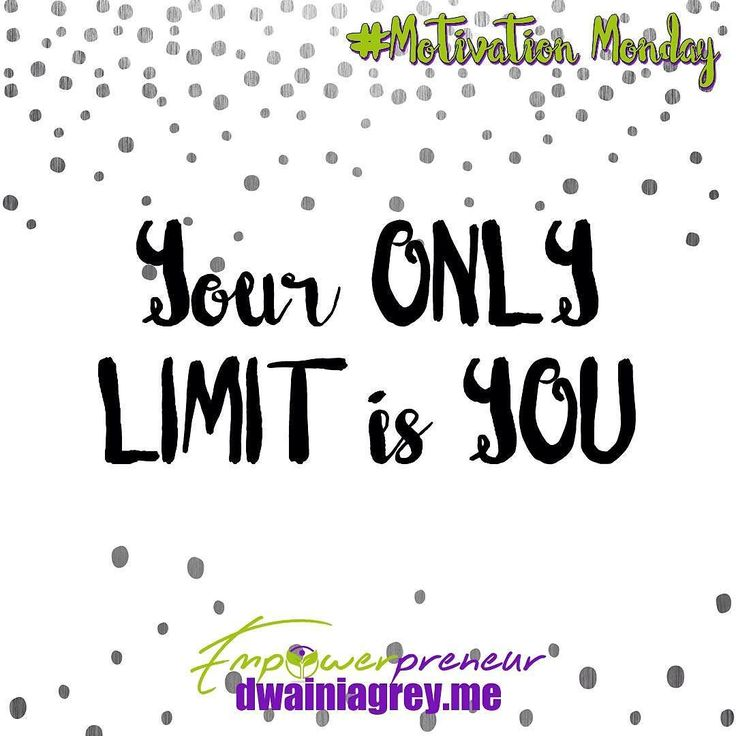 Your only limit is you. Stop standing in your own way. Believe you can achieve. #mondaymotivation #motivationmonday #affirmation #motivation #believe