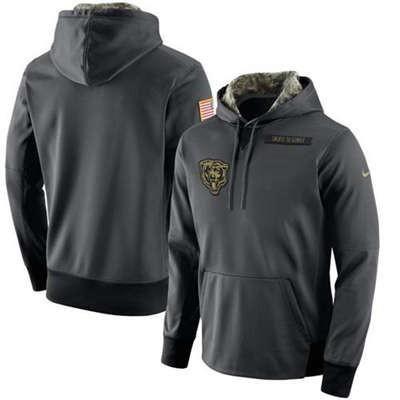 Chicago Bears Salute To Service Men's Pullover Hoodie Sweatshirt