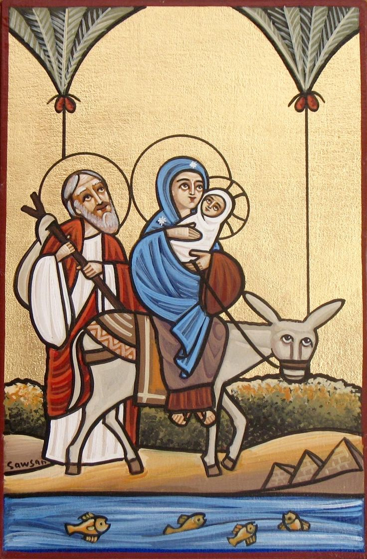 Flight into Egypt (coptic)