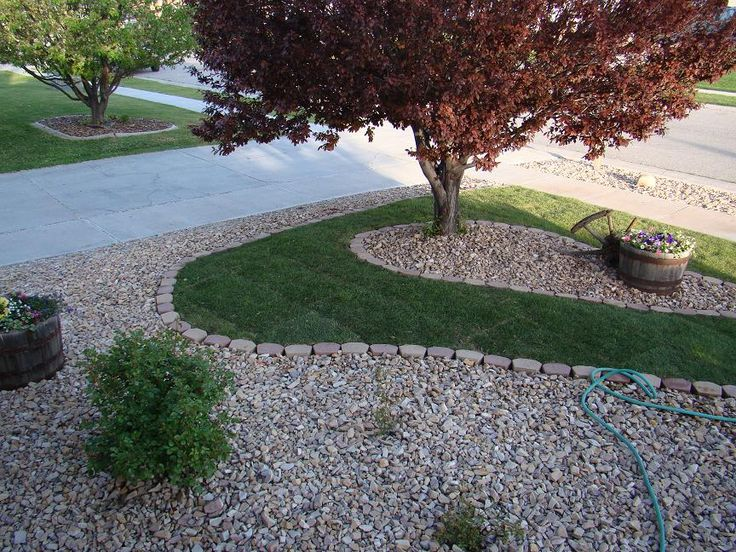 River rock landscaping idea gardening landscaping for Landscape rock yard calculator