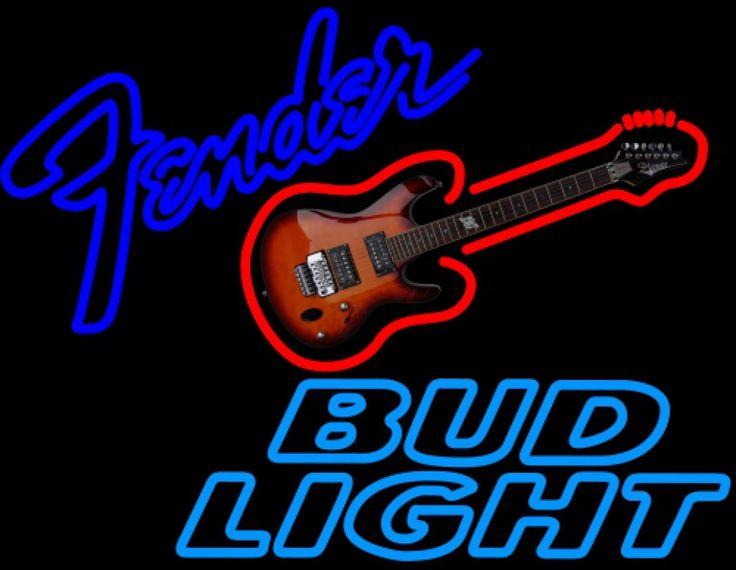 Bud Light Neon Fender GUITAR Neon Sign 12 0016