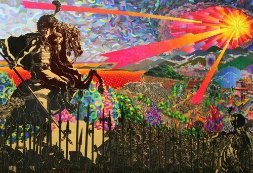 Ahn Doojin. Landscape with Cavalry.
