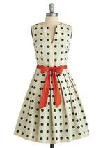 Polka dot swing dress for miss. b.