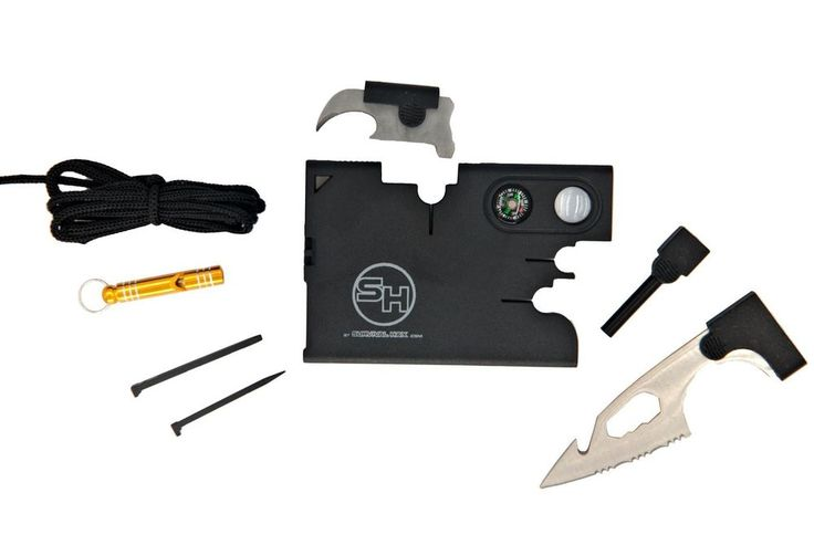 Tactical Credit Card Wallet Tool with Emergency Whistle and Gift Box #SurvivalHax