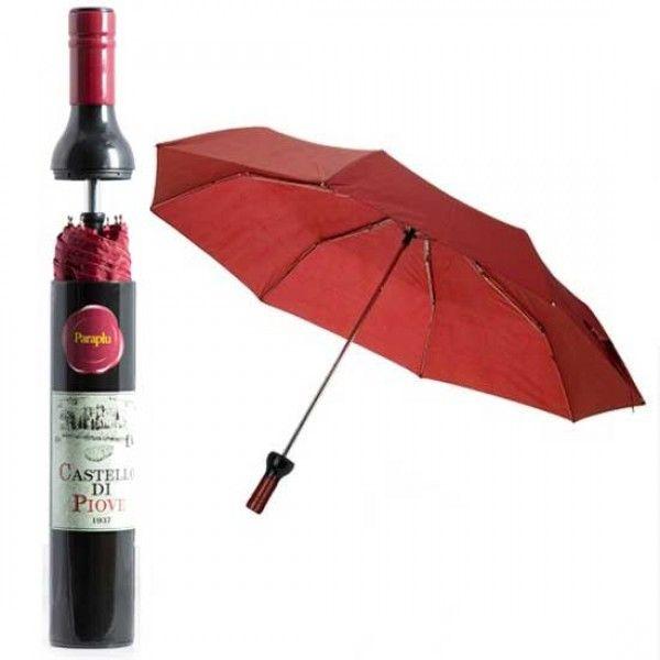 Wijnfles paraplu - Check Die Deal
