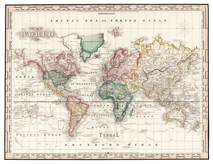 Las 25 mejores ideas sobre mapamundi antiguo en pinterest for Mapa del mundo decoracion