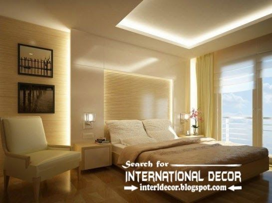 modern-plaster-bedroom-ceiling-and-led-lights | Ιδέες για το σπίτι ...