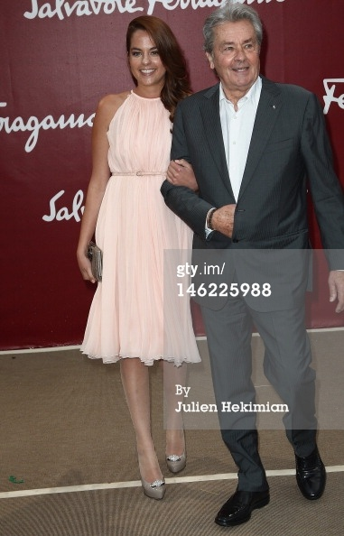 Alain Delon (R) and hi...