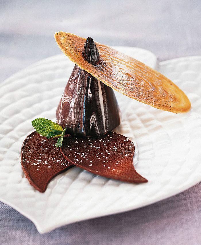 Chocolate dessert at Georges Blanc Parc & Spa, Vonnas, France. #GeorgesBlanc #Vonnas #Dessert #Chocolat #Chocolate