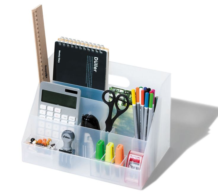 Howards Storage World | A4 Desk Organiser - White  #howardsstorage #christmaswishlist