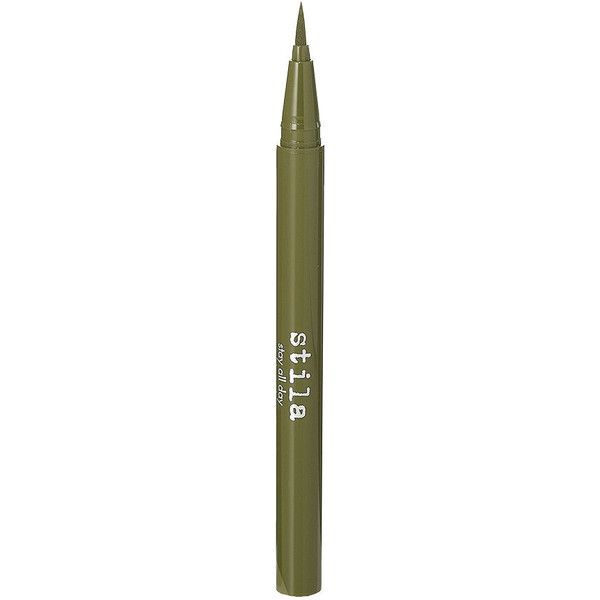 Stila Stay All Day Waterproof Liquid Eye Liner, Olive 0.01 oz found on Polyvore