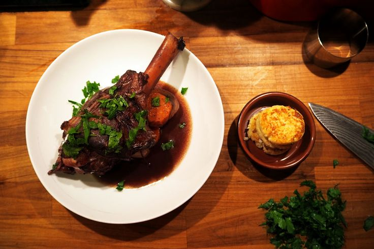Slow-cooked Coca-Cola lamb and cauliflower