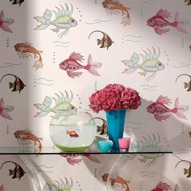 Wallpaper   Nina Campbell   Perroquet Range  Design   Aquarium   Paint U0026  Paper Ltd