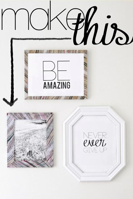 Marbled Picture Frames by Sarah M. Dorsey - Pretty Handy Girl