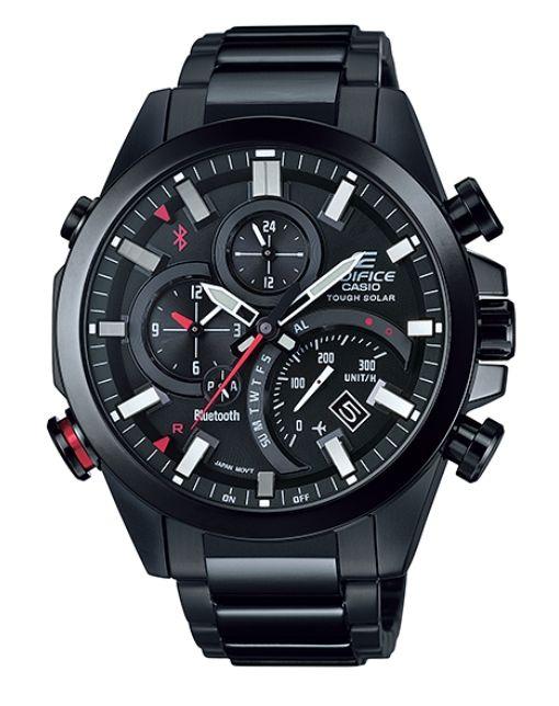 Casio Edifice EQB-500DC-1A solar wristwatch with Bluetooth (black carbon body)