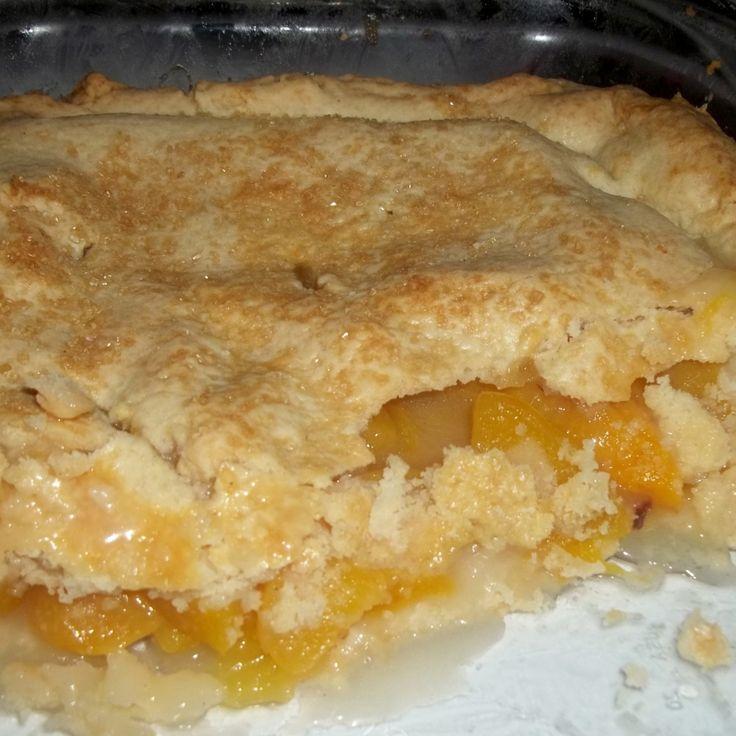 Peach Cobbler / Double Crust Recipe | Just A Pinch Recipes