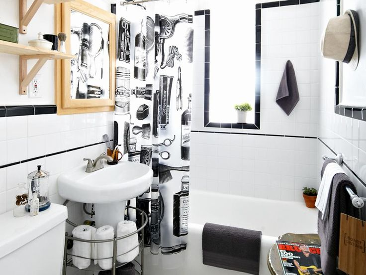 Teen Boysu0027 Barbershop Style Bathroom