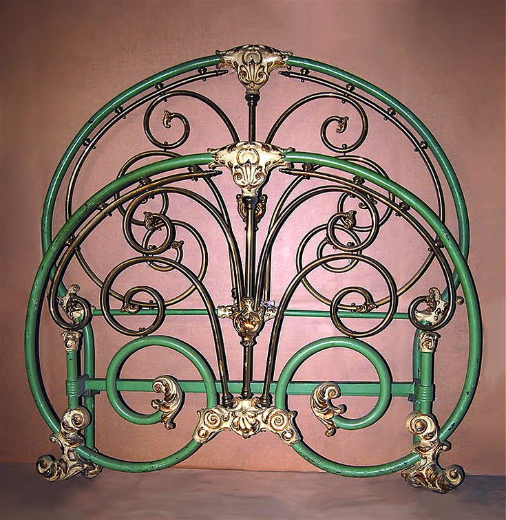 E Simmons Co Brass And Iron Metal Bed Frame Ca Mid 1800s