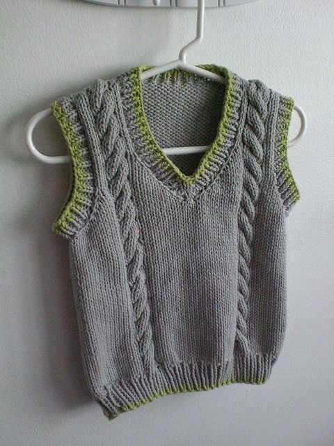 free pattern Knitting-boys Pinterest Cable, Boys and Vest pattern