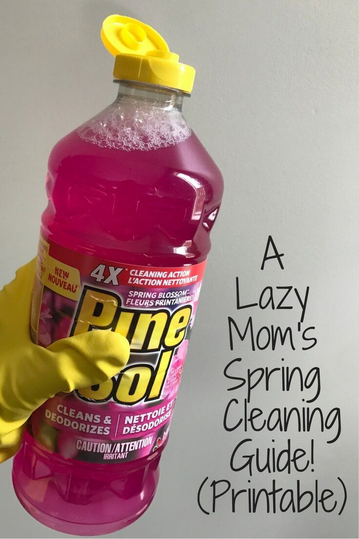 Print out my Lazy Mom's Spring Cleaning Guide! It'll have your house clean and springy in no time. via @merry120