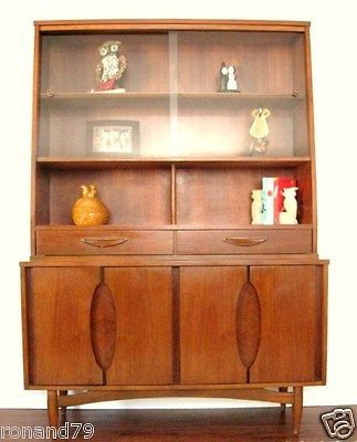 MID CENTURY MODERN CHINA CABINET HUTCH BY GARRISON