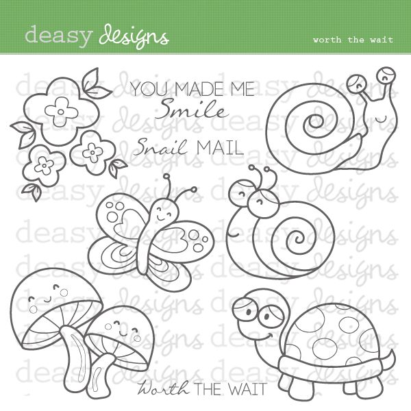 Worth The Wait Digital Stamps - great for craft and creative projects.