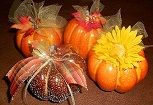 #Pumpkin decorations- easy, pretty and inexpensive.. can keep them out through #Thanksgiving